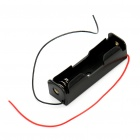 3.7V 1 x 18650 Battery Holder Case Box with Leads (fits protected cells!)
