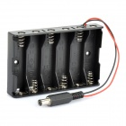 6 x AA Batteries Holder with DC2.1 Power Jack for Arduino