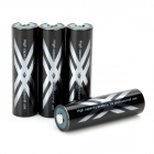Genuine SANYO 2500mAh Ni-MH Rechargeable AA Battery - Black (4-Pack)