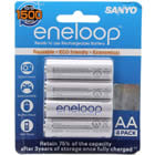 Authentic Sanyo HR-3UTGA Eneloop Rechargeable 1.2V 1900mAh AA Batteries (4 pack)