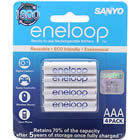 Authentic Sanyo HR-4UTGB Eneloop Rechargeable 1.2V 750mAh AAA Batteries (4-Pack)